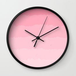 Light Pink Cloud Layers Wall Clock