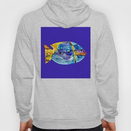 Fish V ( The sun on the waves of the sea ) Hoody
