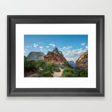 Travel Trees Mountains Angels Rest Zion National Park - Utah USA Framed Art Print