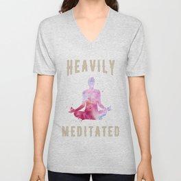 Heavily meditated yoga design Unisex V-Neck