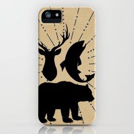 Outdoorsman Trio Silhouette iPhone Case