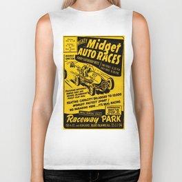 Midget Auto Races, Race poster, vintage poster Biker Tank