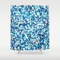 Icy triangles Shower Curtain