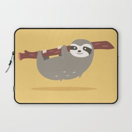 Sloth card - Am I late? Laptop Sleeve