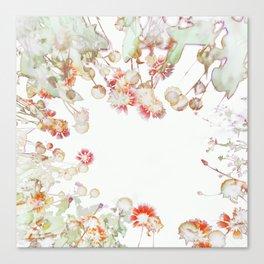 Ethereal Pastel Summer Garden Canvas Print