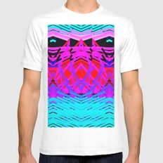Neon Time Mens Fitted Tee MEDIUM White