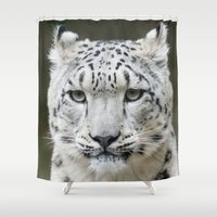 leopard Shower Curtains featuring Leopard by WonderfulDreamPicture
