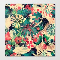 jungle Canvas Prints featuring Jungle by Demi Goutte