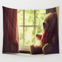 teddy bear Wall Tapestries featuring Teddy Bear by MariBee