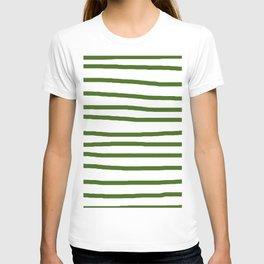 Simply Drawn Stripes in Jungle Green T-shirt