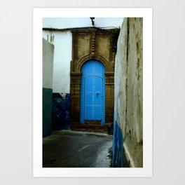 Travel: Morocco Blue Door Art Print