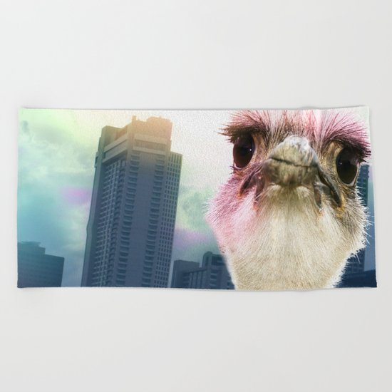 Ostracized in the City Beach Towel