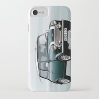 mini cooper iPhone & iPod Cases featuring Classic Mini Cooper by TCORNELIUS