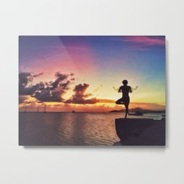 Sunset in Vieques Metal Print