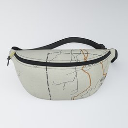 Vintage Petrified Forest National Park Map (1919) Fanny Pack