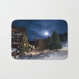 Night in the mountains Bath Mat