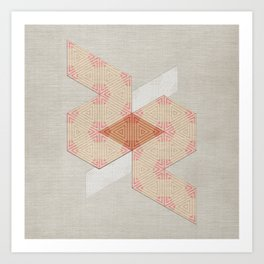Abstract Triangle Sandy Pattern Art Print
