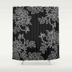 LIVING IN BLACK AND WHITE Shower Curtain