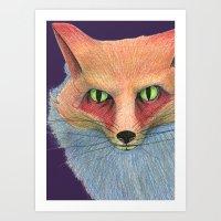 the dark of the eyes Art Print