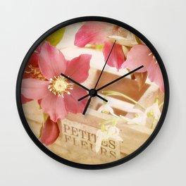 Romantik pink flower still life Wall Clock