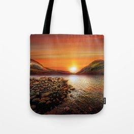 Idwal Lake Sunset Tote Bag