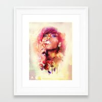 rihanna Framed Art Prints featuring Rihanna by turksworks