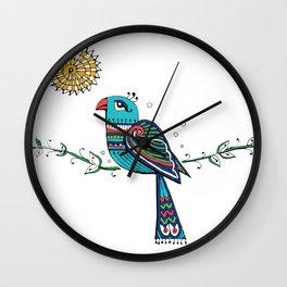 Peacock Sun Wall Clock