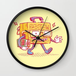 Back to School Lunchpail Bot Wall Clock