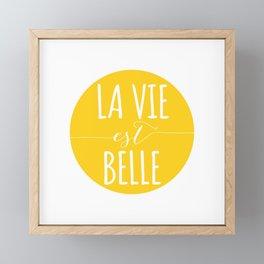 La vie est belle Framed Mini Art Print