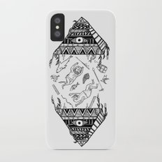 On how the mystical levitation of divers are induced by floating pyramids iPhone X Slim Case