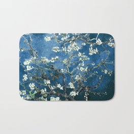 Van Gogh Almond Blossoms : Ocean Blue Bath Mat