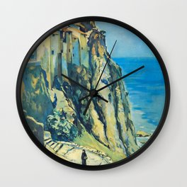 Corse Travel Poster Wall Clock