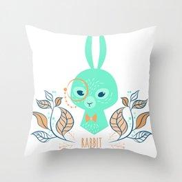 Scandi Rabbit Throw Pillow