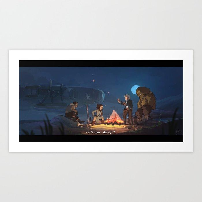 A Hero's Tale Art Print