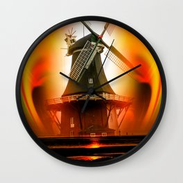 Lighthouse romance Wall Clock