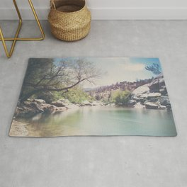 Kern River photograph Rug