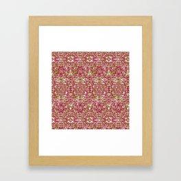 Purple & Green Rice Framed Art Print