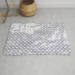 Lilac-gray polka dots with texture Rug