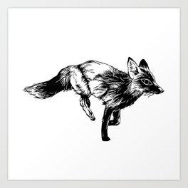 mystic fox Art Print