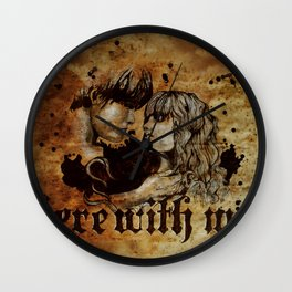Here with me Wall Clock