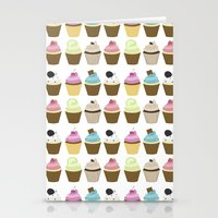 cupcakes Stationery Cards featuring Cupcakes by heartlocked