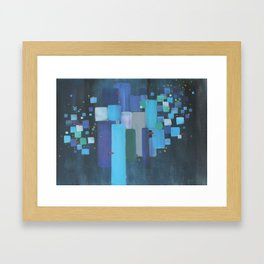 Night Walk With A Cat Framed Art Print