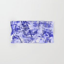 Light Blue Violet Abstract Hand & Bath Towel