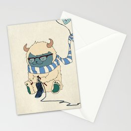Knitting Train Stationery Cards