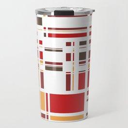 Fourth Dimension Red Plaid Travel Mug