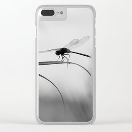 Insect Photography | Dragon Fly | Black and White Photography Clear iPhone Case