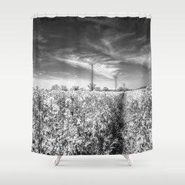 The Summer  English Field Infared Shower Curtain