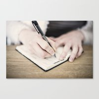 write Canvas Prints featuring WRITE by Marte Stromme