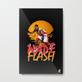 NBA Legends: Dwyane Wade Metal Print