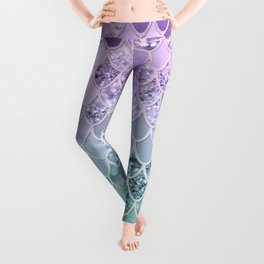 Mermaid Glitter Scales #1 #shiny #decor #art #society6 Leggings